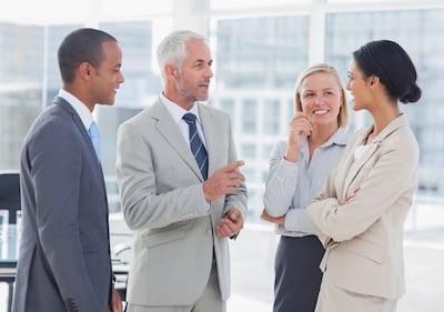 business people talk