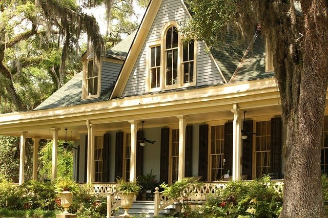 nice house with porch in front