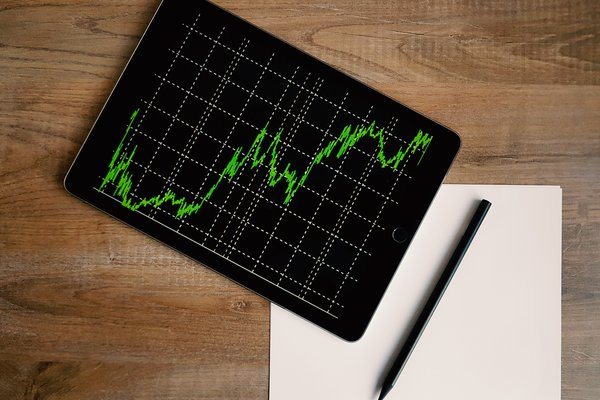 investment chart on ipad