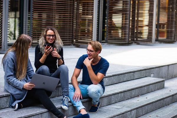 group of millennial friends