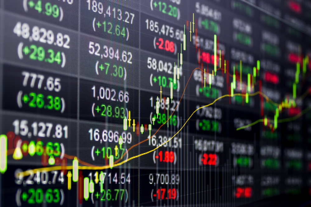 stock market graphs and data